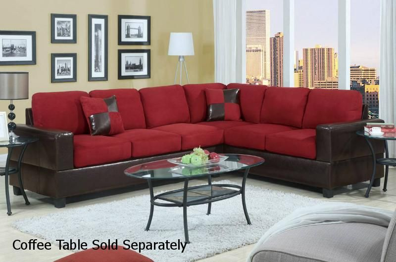 Red Sectional Sofa for Newly Wed Couples Home | Sofas ...