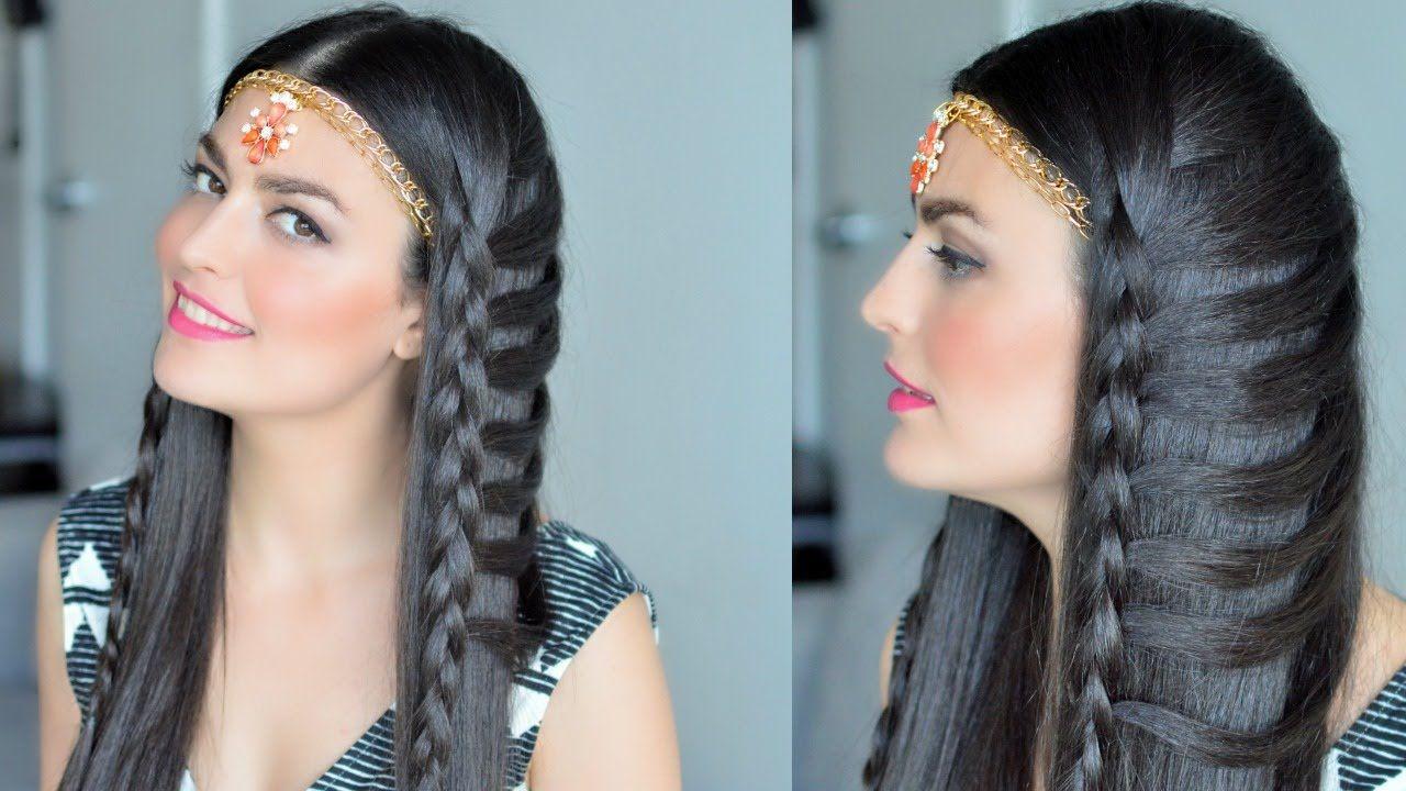 جدولة حديثة تسريحة نسرين طافش Dutch Braid Hair Wrap Hair Styles Beauty