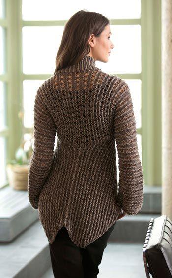 Free Knitting Pattern L10351 Glamour Jacket : Lion Brand Yarn Company