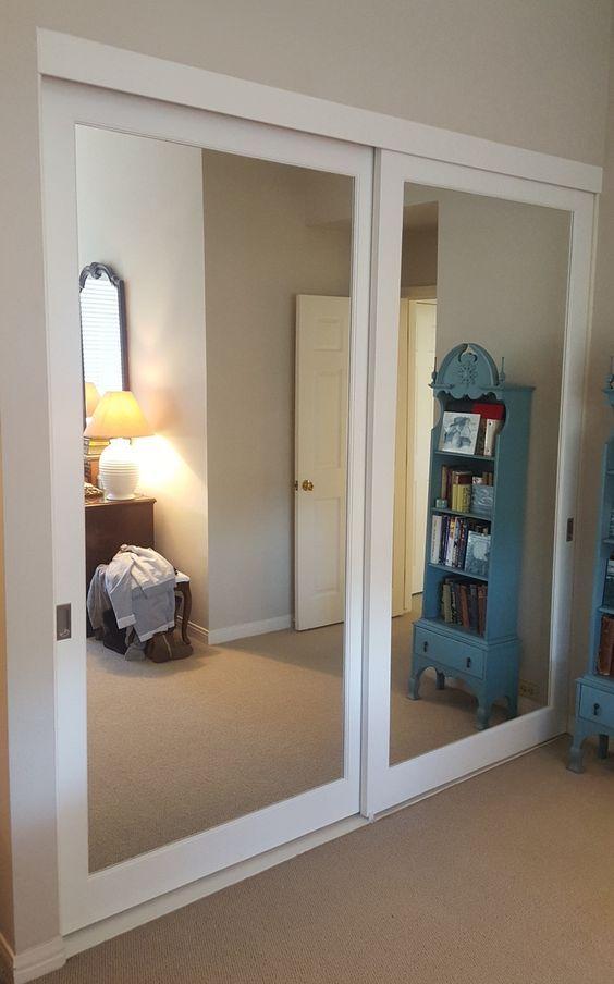 Ten un armario con puertas de espejo room pinterest for Reformar puertas