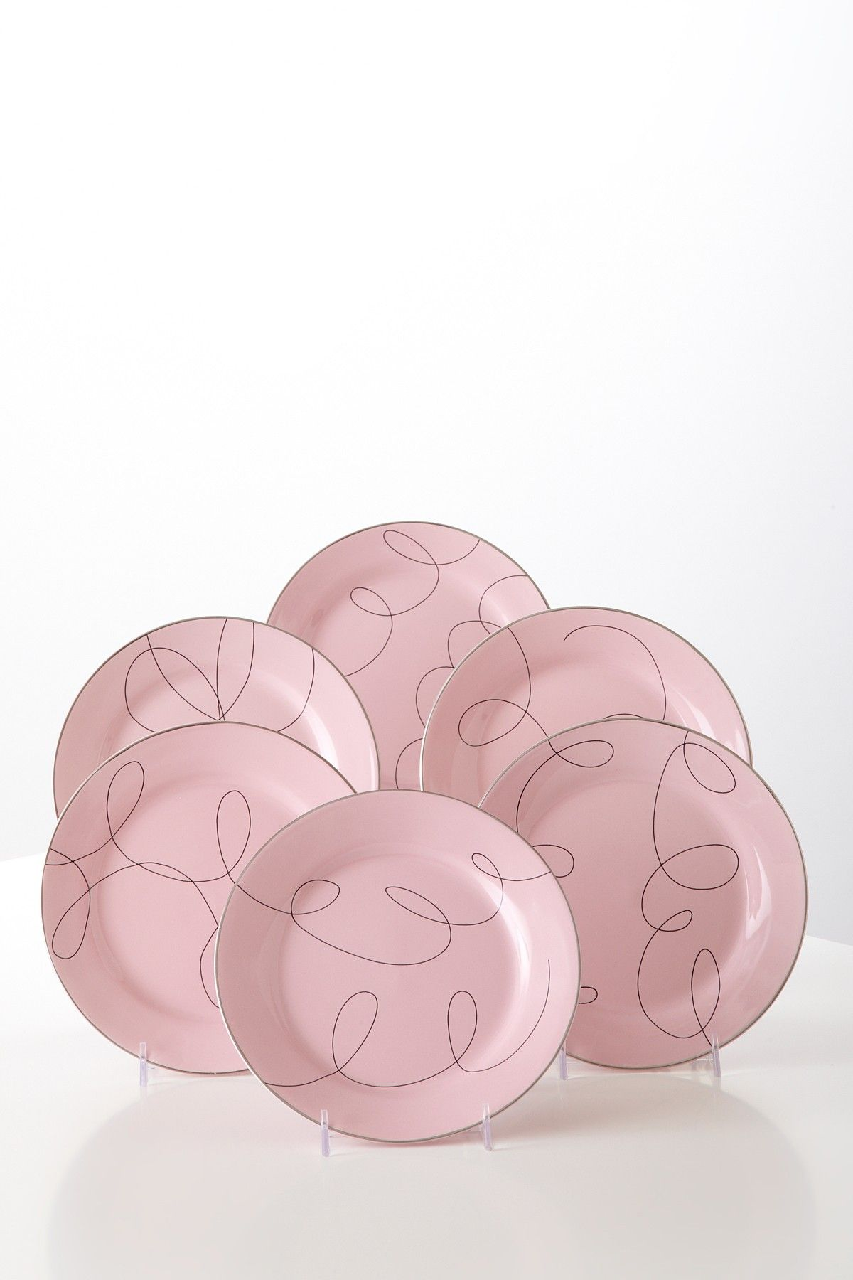 Pretty In Pink Dessert Plates Gift Box - Set of 6 on @HauteLook
