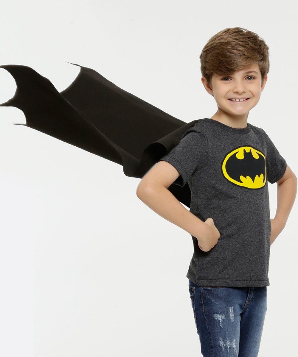 Camiseta Infantil Batman Liga da Justiça