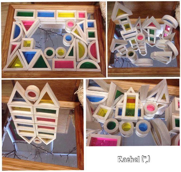 "Colour blocks on a flat mirror - from Rachel ("",)"
