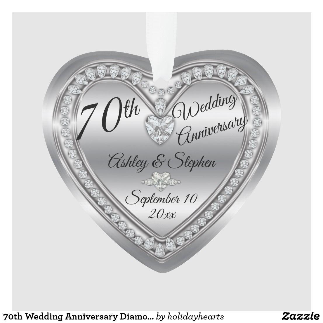 70th Wedding Anniversary Diamond Platinum Keepsake