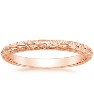 14K Rose Gold Garland Ring, top view