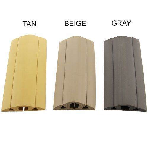 Neoprene Floor Cord Cover And Protector In Tan Beige And Grey   Icon