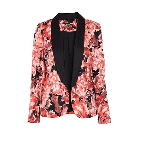 Veste blazer fleurie femme