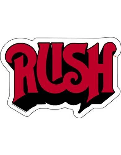 Rush Logo White Sticker Logo Sticker Logos Letter Logo