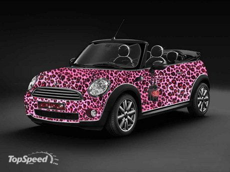 2009 Life Ball Mini By The Blonds Top Speed Mini Cooper Pink Convertible Pink Car