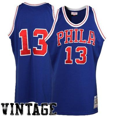 best cheap 436f9 69d27 Mitchell & Ness Wilt Chamberlain Philadelphia 76ers 1966 ...
