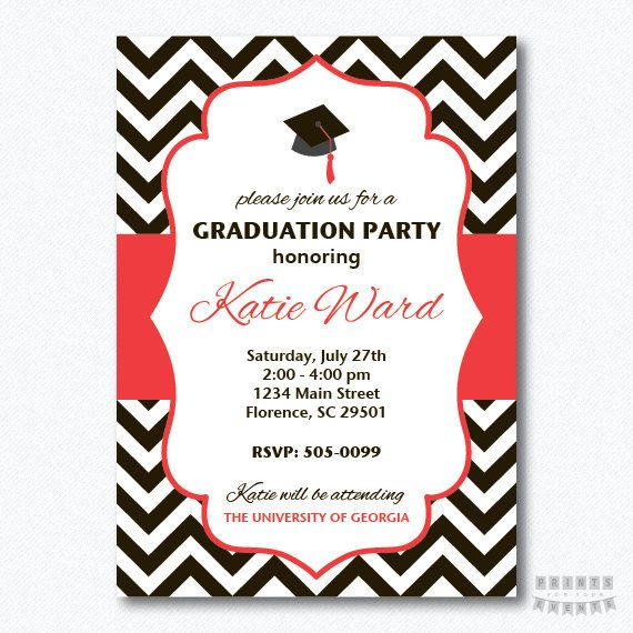 PRINTABLE Chevron Graduation Party by PrintsForYourEvents on Etsy