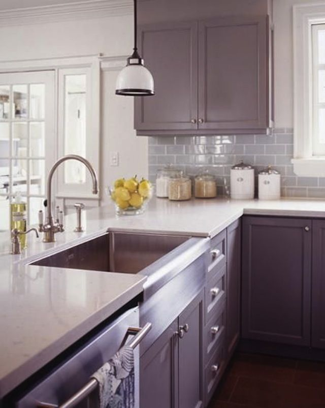 Purple Kitchen Cabinets, How To Spruce Up Your Kitchen Cabinets