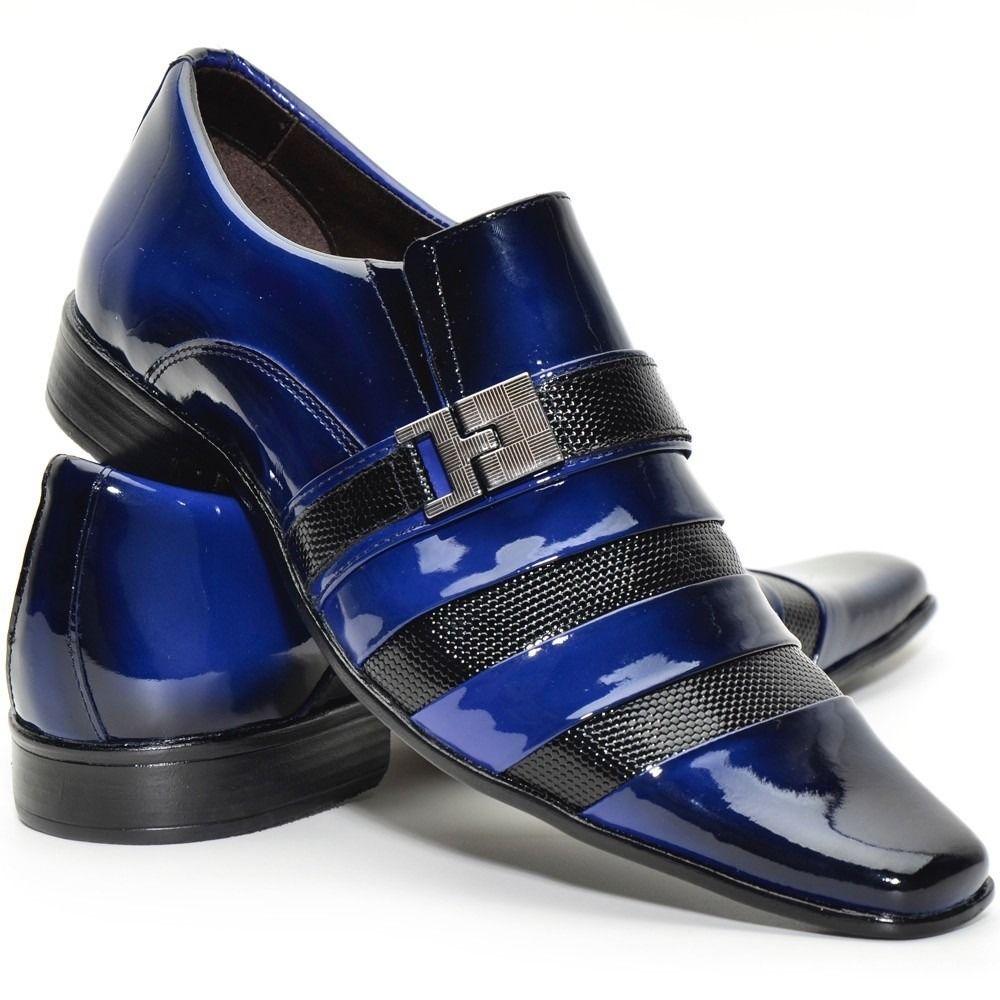 27280c3a6 Sapato Social Masculino Em Couro Verniz Vinho/sapatofran - R$ 169,99 no  MercadoLivre