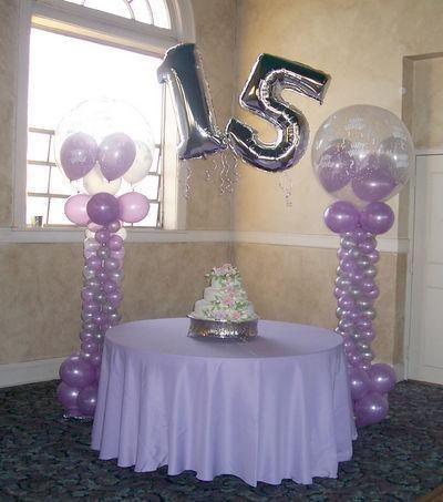 Decoraci n para xv a os con globos decoraciones para xv for Decoracion de globos para 15 anos