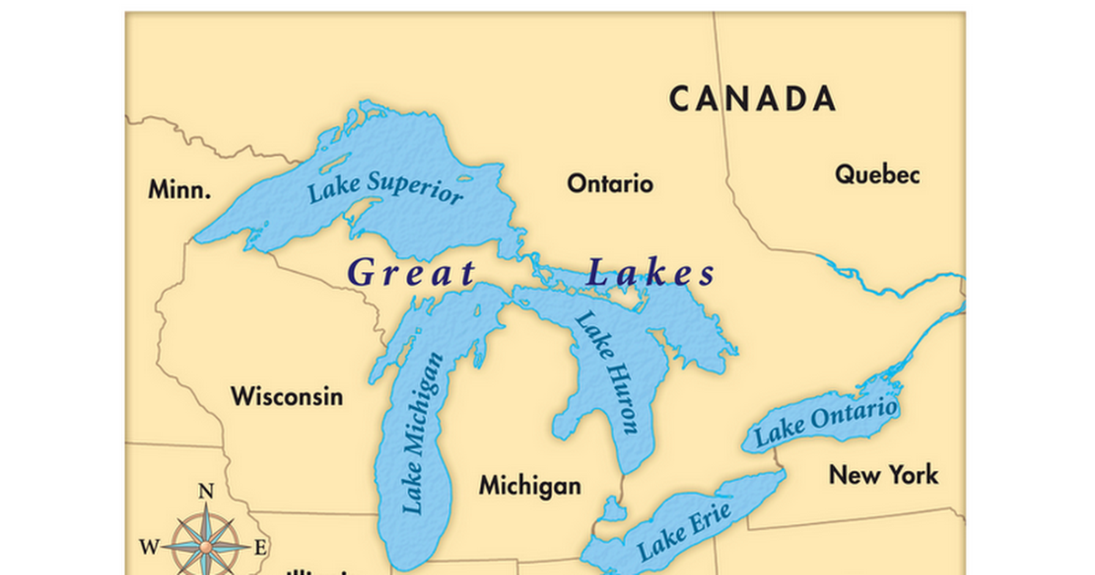 map of us with great lakes Maps To Use For Mystery Skype Great Lakes 13 Colonies Us map of us with great lakes