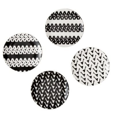 my black & white dessert plates are perfect for your holiday table and any time!