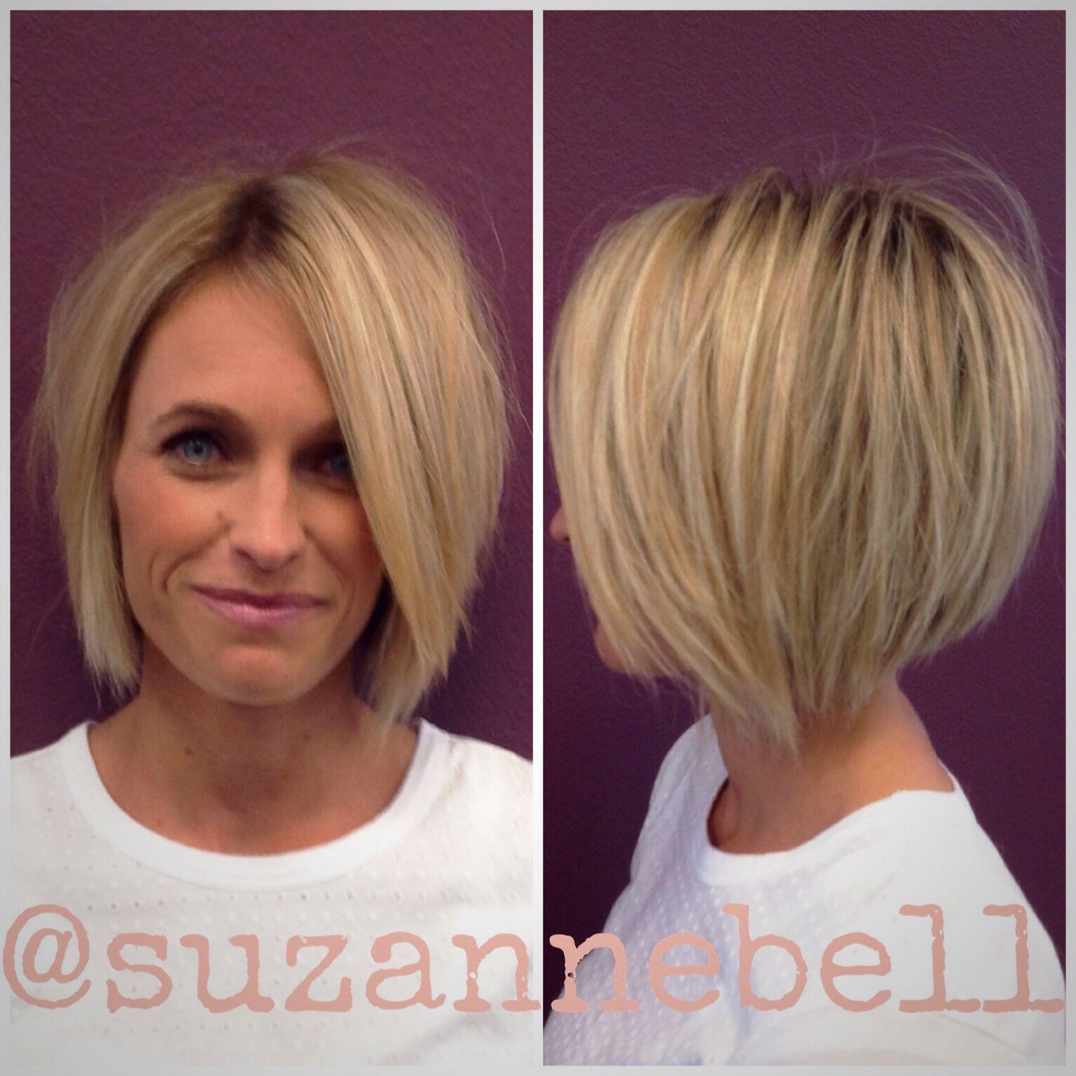 Cute haircuts for short hair - Short Blonde Shattered Bob Short Hair Bob Haircut Undercut