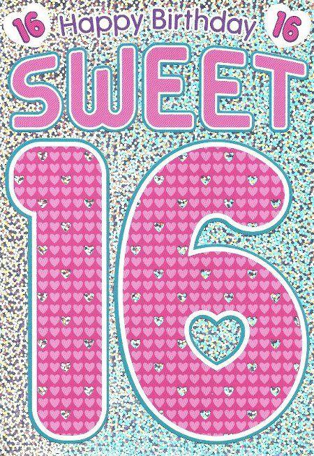 Free Printable Sweet 16 Birthday Greeting Card Birthday Cards