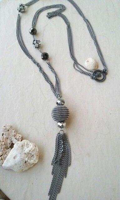 Long Tassel Beaded Necklace  Price $28