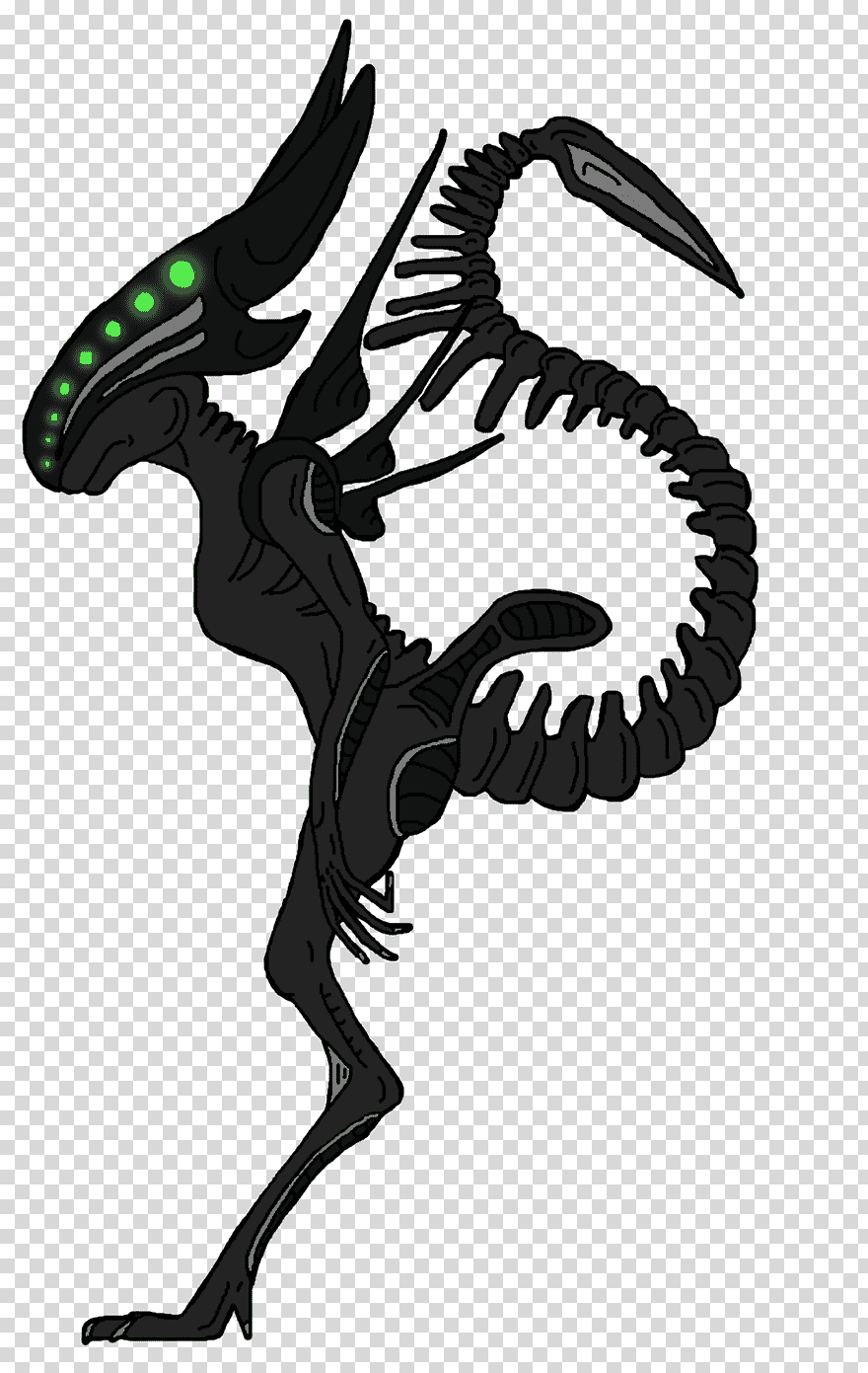 Alien Isolation Predator Drawing Alien Xenomorph Dragon Fictional Character Silhouette Alien Png P Comic Book Drawing Tiger Illustration Batman Drawing
