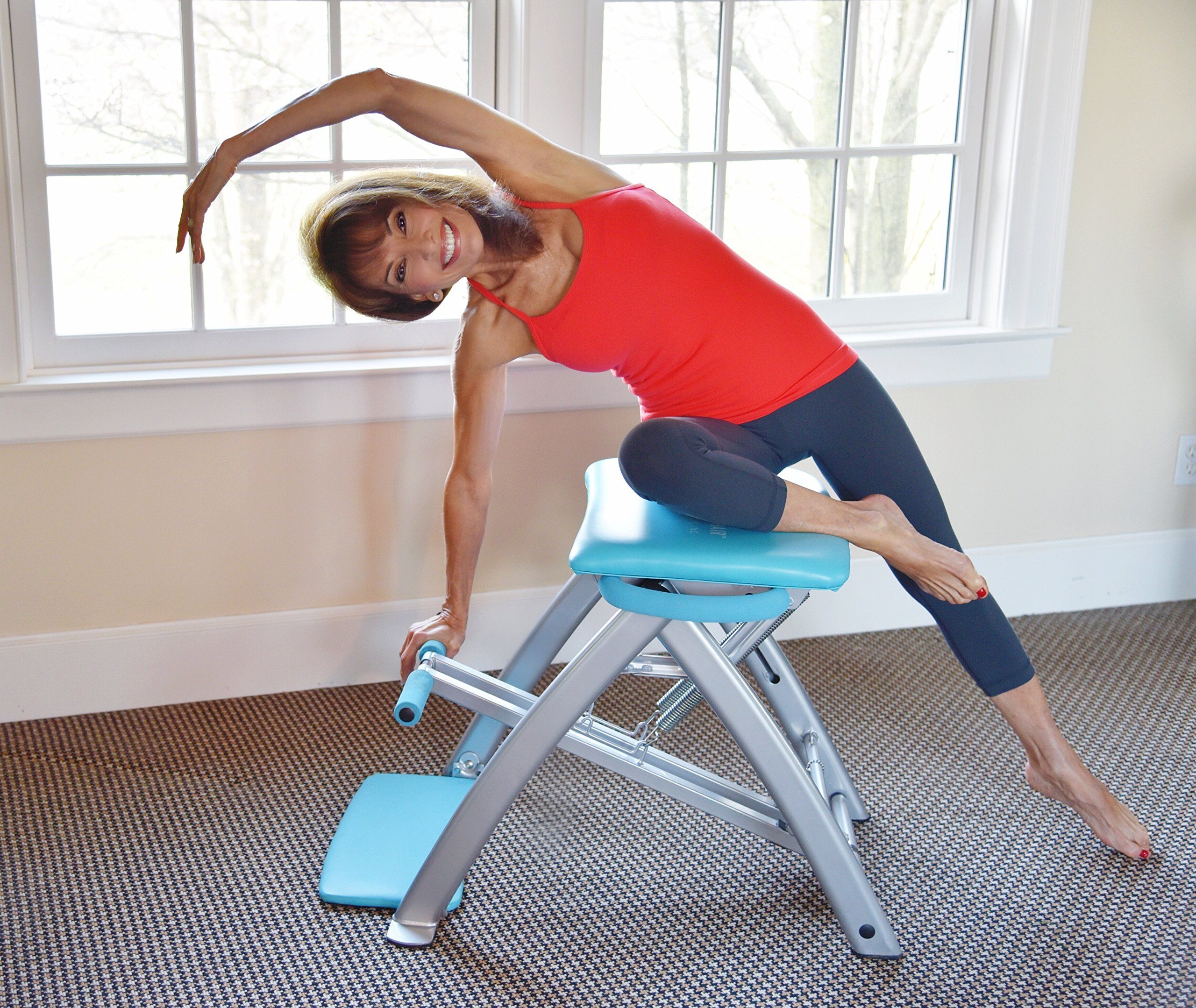 Lifes A Beach Purple Pilates Pro Chair and DVDs >>> Want