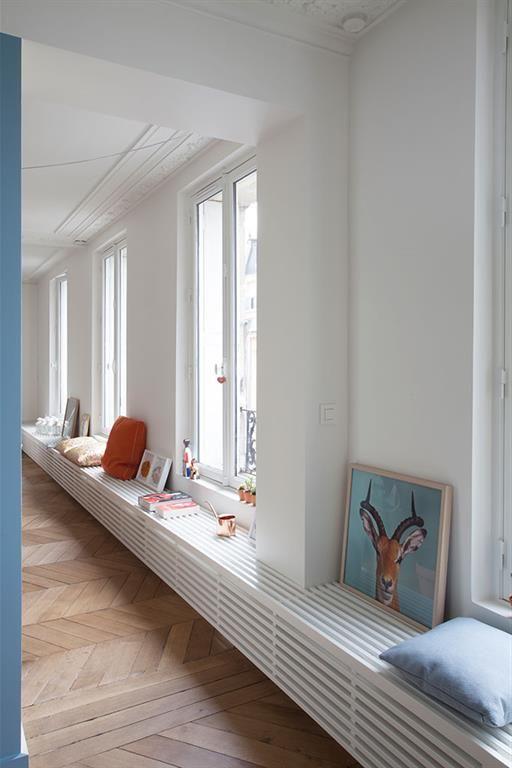 appartement haussmannien paris un appartement paris pinterest appartements bancs et. Black Bedroom Furniture Sets. Home Design Ideas