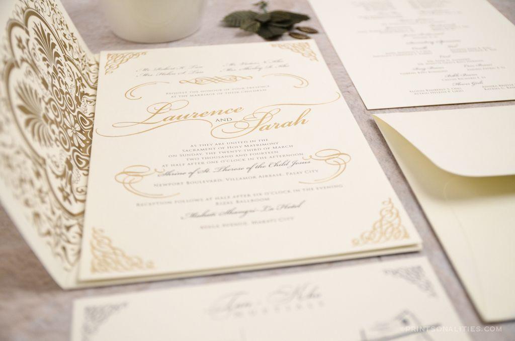 Laurence & Sarah Wedding Invitation | Custom Invitations by ...