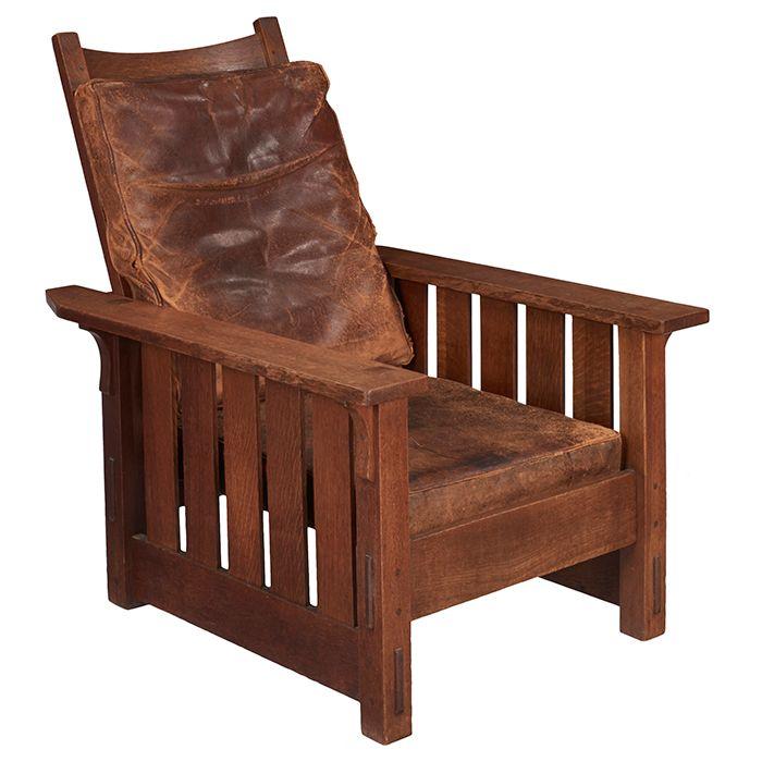 Gustav Stickley Morris Chair No 332 Eastwood Ny Oak