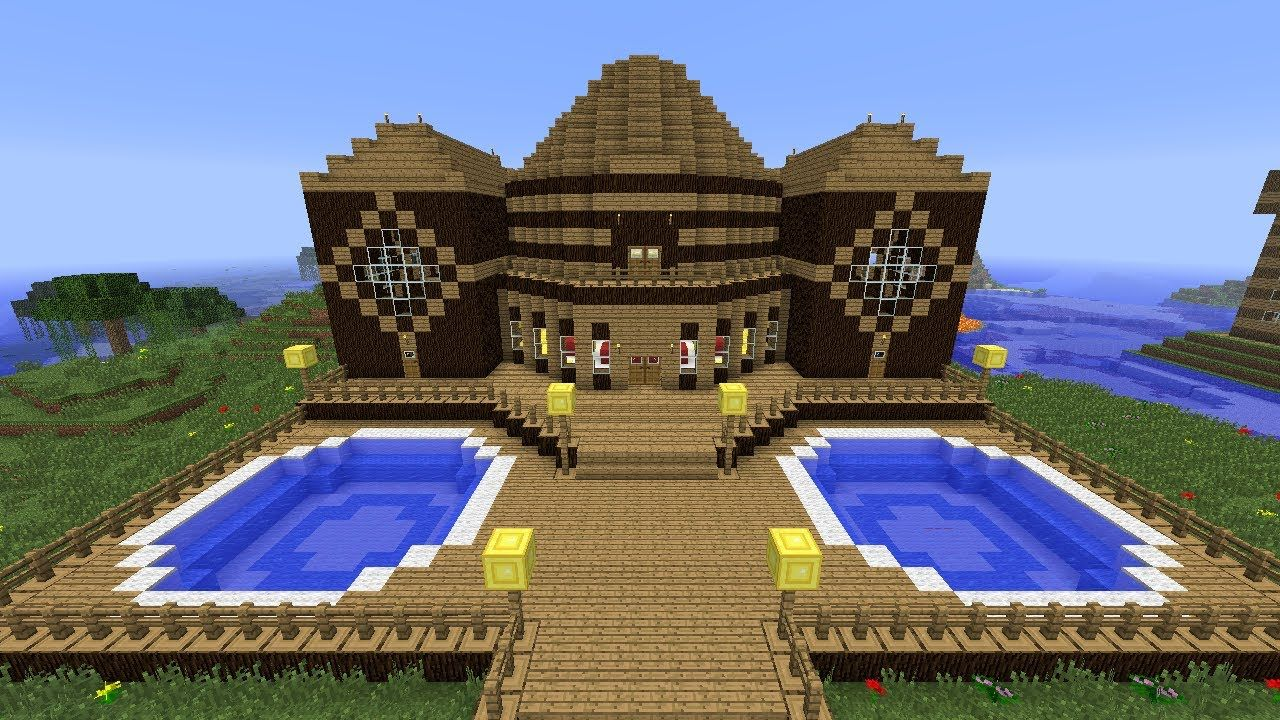 Minecraft Tutorial of How I Built The Wooden Mansion. Minecraft Tutorial of How I Built The Wooden Mansion    Minecraft