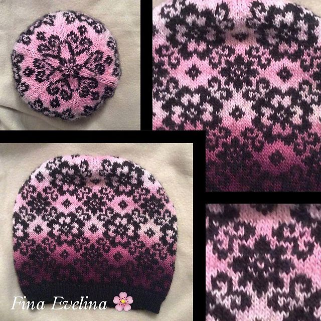 Fina Evelina Slouchy Beanie pattern by JennyPenny | Dos agujas y Gorros