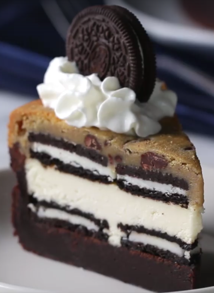 5 Layer Cookie Box Brownie Cheesecake Recipe By Tasty Recipe Chocolate Chip Cookie Dough Brownies Chocolate Chip Cookie Dough Desserts