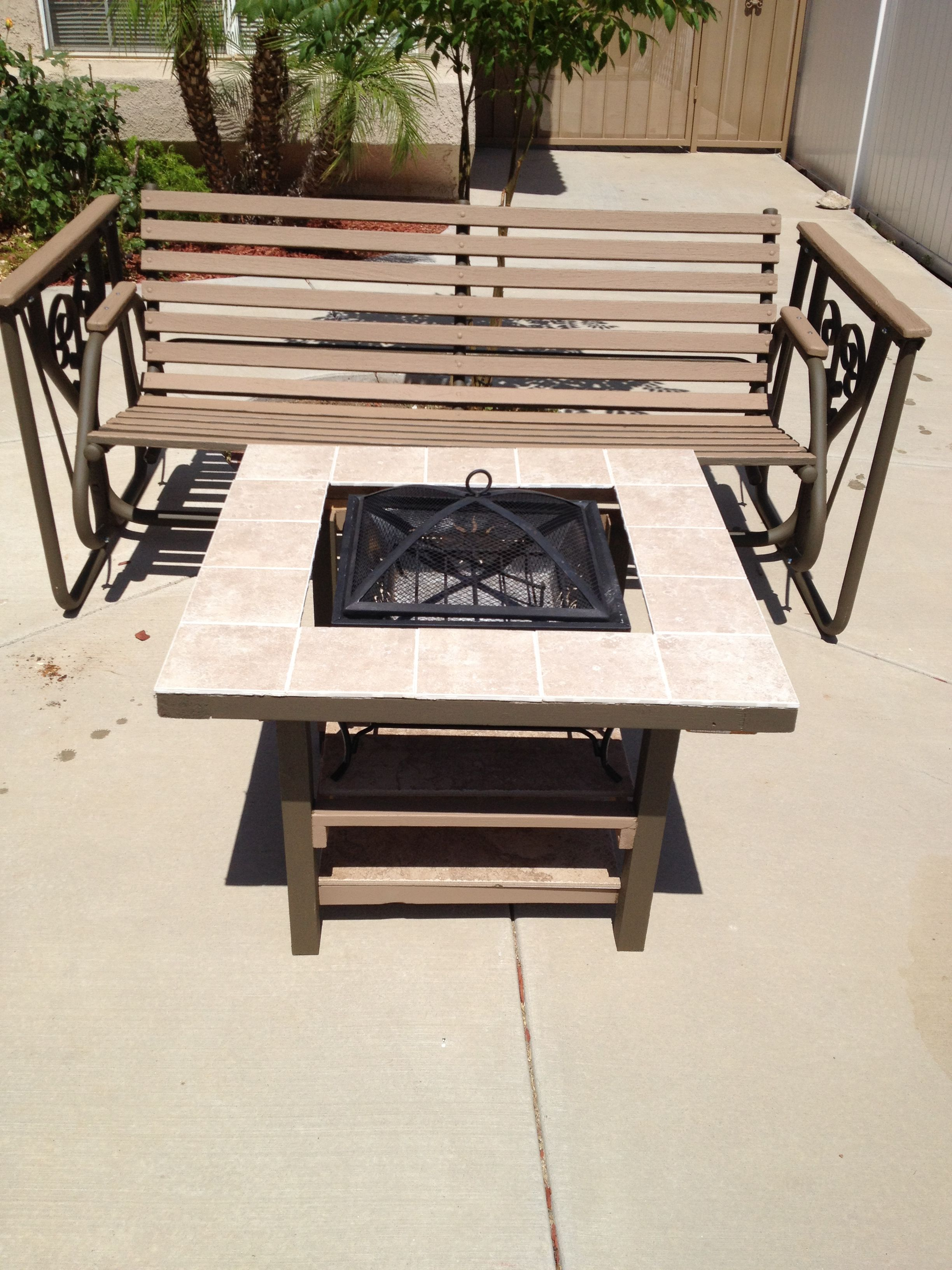 15 Grill And Home Made Table From Scrap Wood And Left Over