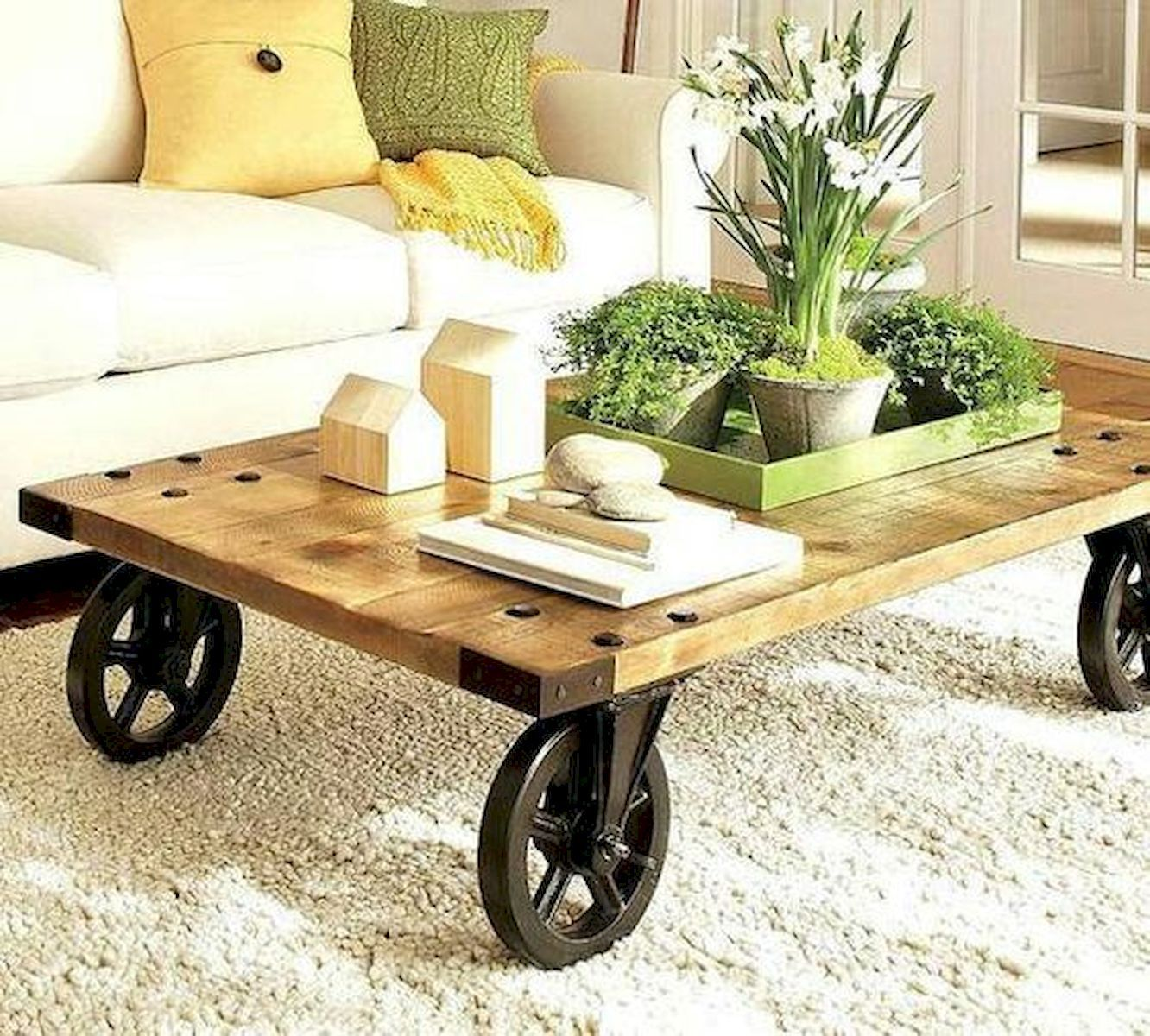 60 Fantastic Diy Projects Wood Furniture Ideas Rustic Wooden Coffee Table Funky Home Decor Rustic Coffee Tables [ 1200 x 1332 Pixel ]