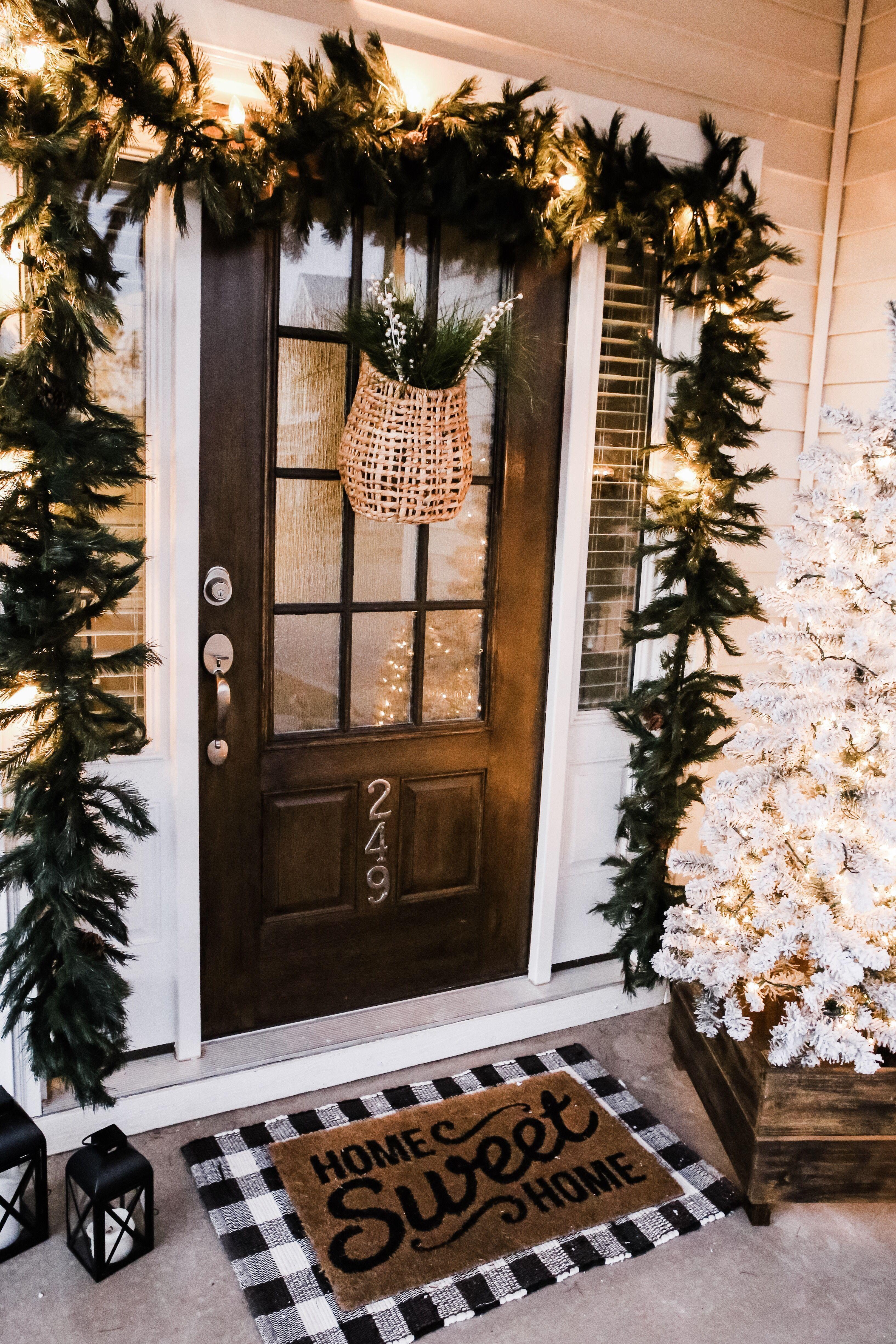 Our Festive Home Exterior for Christmas