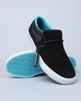 57427b80bbf04 Supra - Cuban Black Suede/Nylon Sneakers | Sheos | Zapatos hombre ...