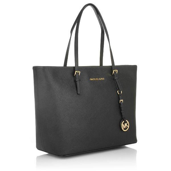 2e821af4a6e15 MICHAEL Michael Kors Jet Set Travel Tote Black Shopper Designer Taschen bei  Fashionette