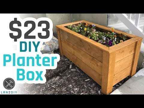 23 Diy Planter Box Youtube Learn How To Build Diy Planter