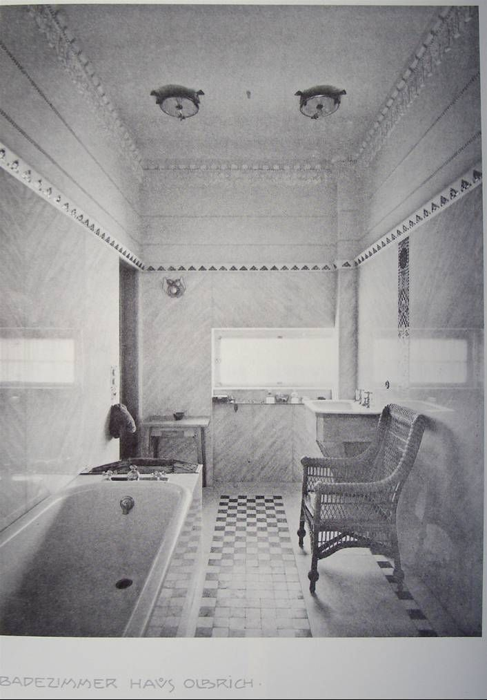 j m olbrich salle de bains de la maison olbrich mathildenh he k nstlerkolonie 1901 the. Black Bedroom Furniture Sets. Home Design Ideas