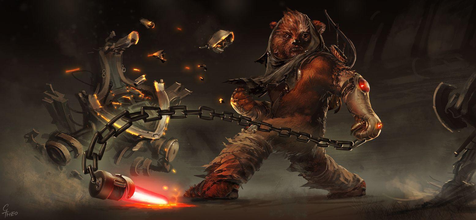 Ewok art google search starwars pinterest art - Ewok wallpaper ...
