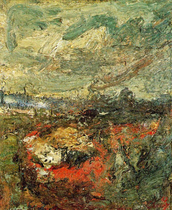 Paysage, 1963, huile sur toile, 60,5x50 cm