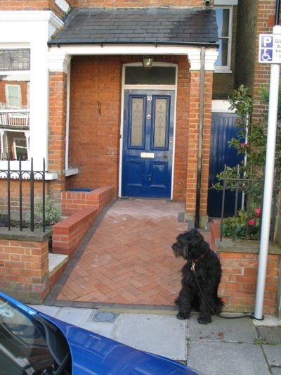 Brick ramp in front garden handicapped ramping for Garden design ideas for disabled