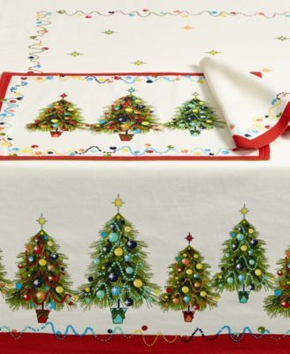 Fiesta Christmas Tree Table Linens Collection Table Linens