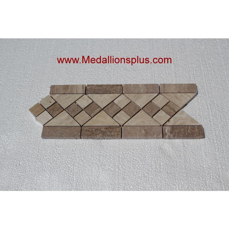 marble diamond tile border
