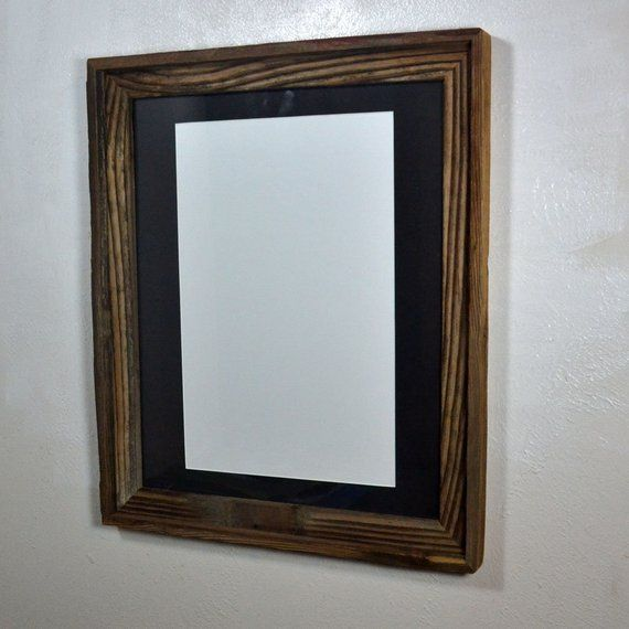 Rustic Wood Frame 11 X17 Black Mat 20 Mat Colors Fits An 11x14 12x16 11x17 Or 12x18 With Images Rustic Wood Frame Wood Poster Frames Wooden Frames