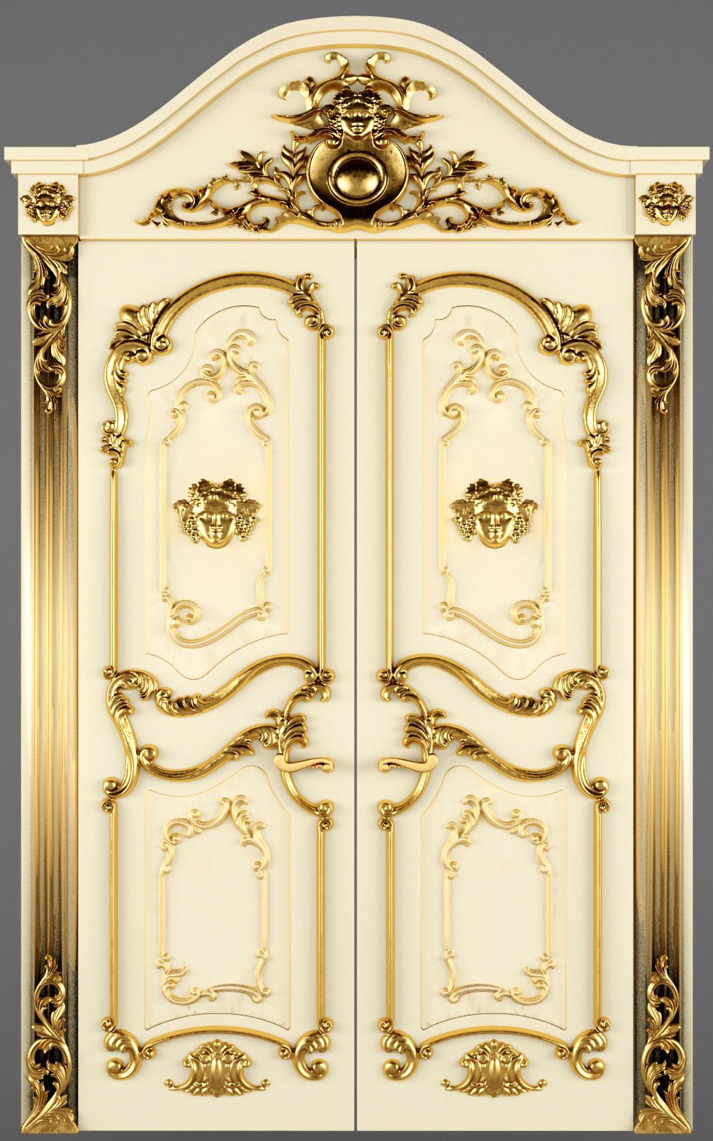 Neo baroque furniture by paolo lucchetta modern furniture design - Luxury Classic Baroque Carved Door Model Available On Turbo Squid The World S Leading Provider Of Digital Models For Visualization Films Television