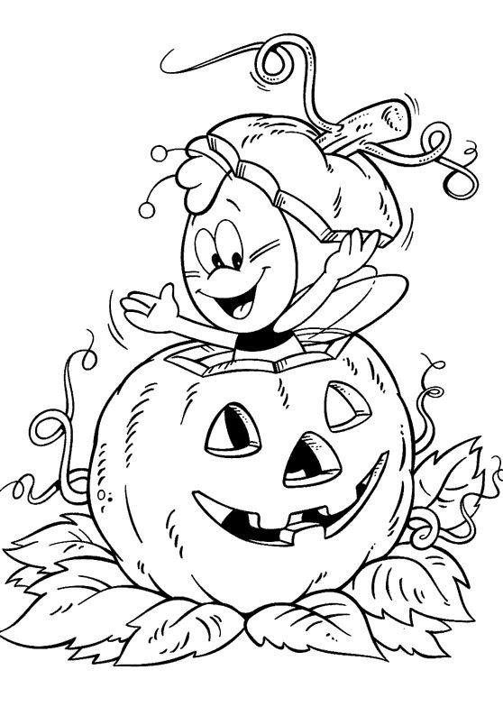 Gratis Kleurplaten Halloween.Halloween Coloring Pages For Kids Printable Online Coloring 8