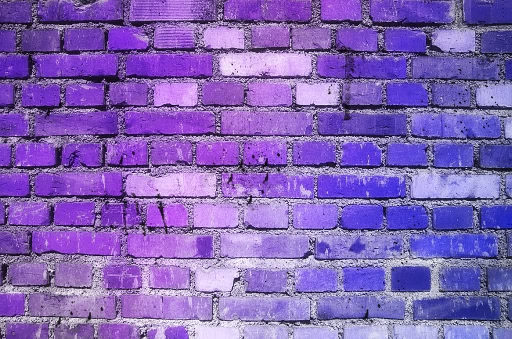 Nice pile of bricks u got there purple nurple for Purple brick wallpaper