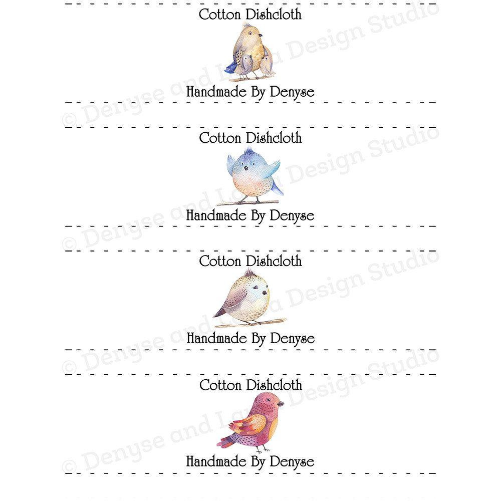 Crochet Dishcloth Labels, Packaging, Tags, Crochet Wraps