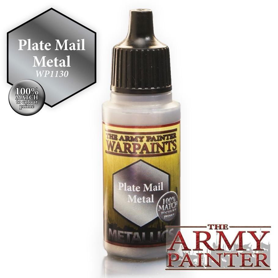 Army Painter Warpaints Plate Mail Metal 18ml Miniatures Paint