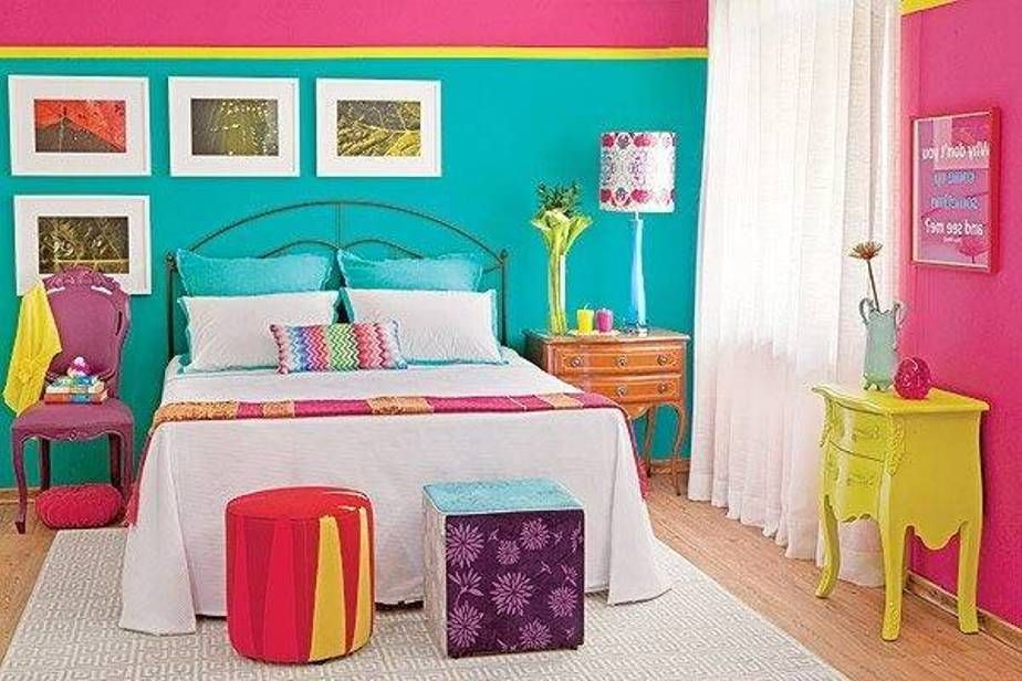 Pink Yellow And Turquoise Yellow Bedroom Blue Bedroom Decor Yellow Room